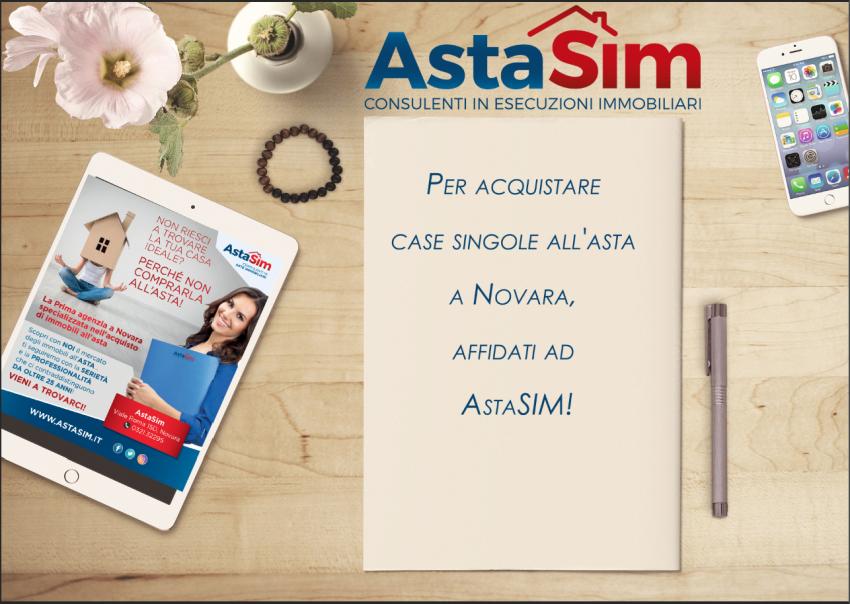 Per acquistare case singole all'asta a Novara, affidati ad AstaSIM!